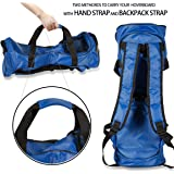 Waterproof Hover Board Bag -Carrying Backpack and Durable Fashion Handbag for Two Wheels Self Balancing Smart Electric Scooters- with Adjustable Shoulder Straps and Storage Mesh pocket