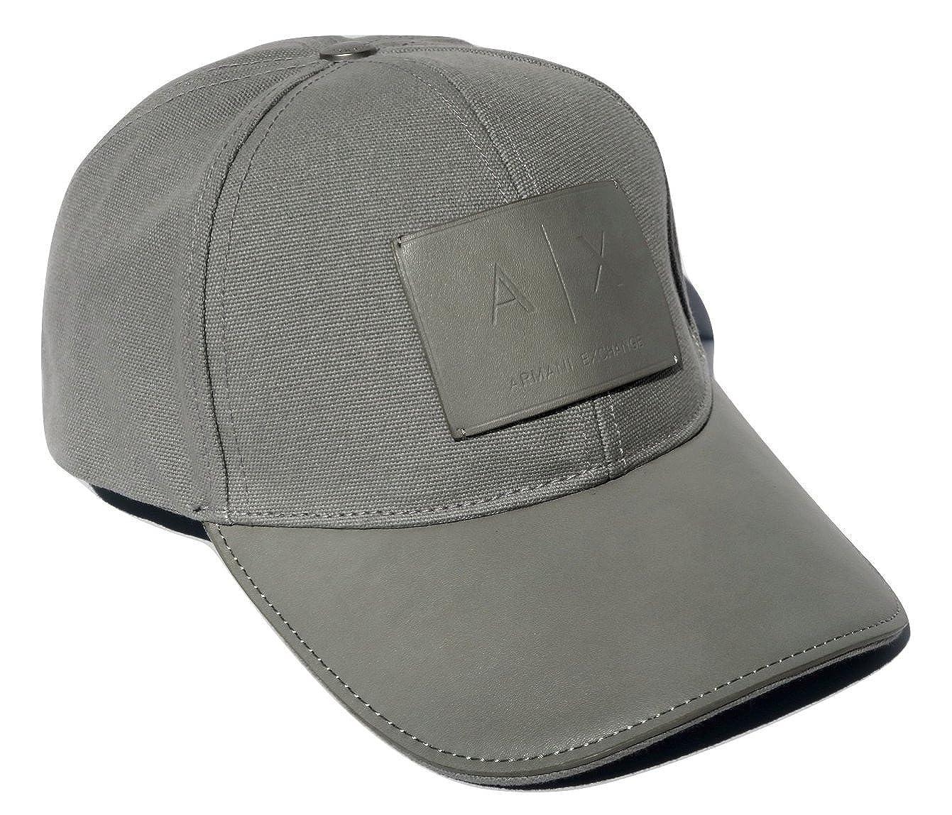 Amazon.com  Armani Exchange AIX Logo Patch Trucker Full Back Hat Cap in  Allow Grey  Clothing 7583079dc1e