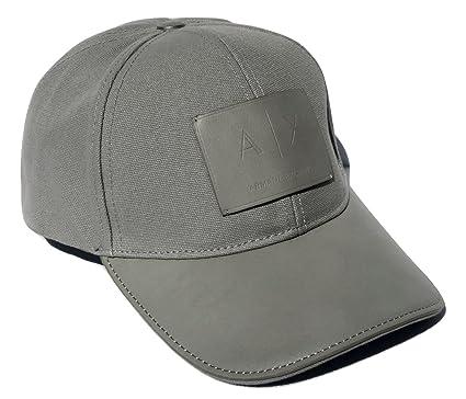 Amazon.com  Armani Exchange AIX Logo Patch Trucker Full Back Hat Cap ... d9916557a60f