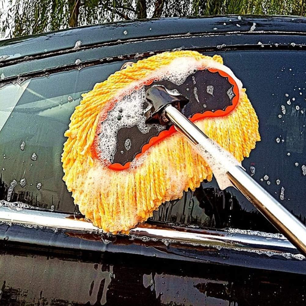 Ruix Autowaschmop Langen Griff Teleskop Autowäsche Liefert Autobürste Autowischbürste Autowaschbürste Reinigungsmop Reinigungswerkzeug Sport Freizeit