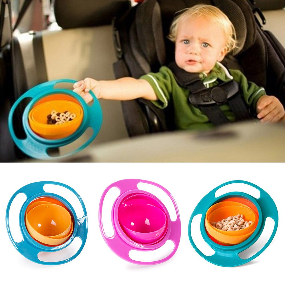 Spill Proof Bowl - Gyro Bowl - Promotion Baby Bowl Children Toddlers Baby Kids Bowl Non Spill Eat Food Snacks Bowl Lunch Box Children Christmas Gifts - No Spill BiStore