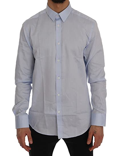 Versace Collection Homme Chemise en Coton Tendance Slim Fit Taille Bleu 411a4afe488