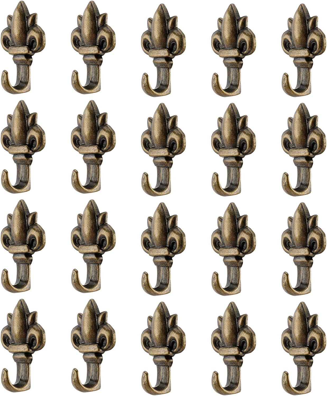 Tysun 20 Pcs Zinc Alloy Push Pin Hanger Hooks, Flower Shape Wall Hooks
