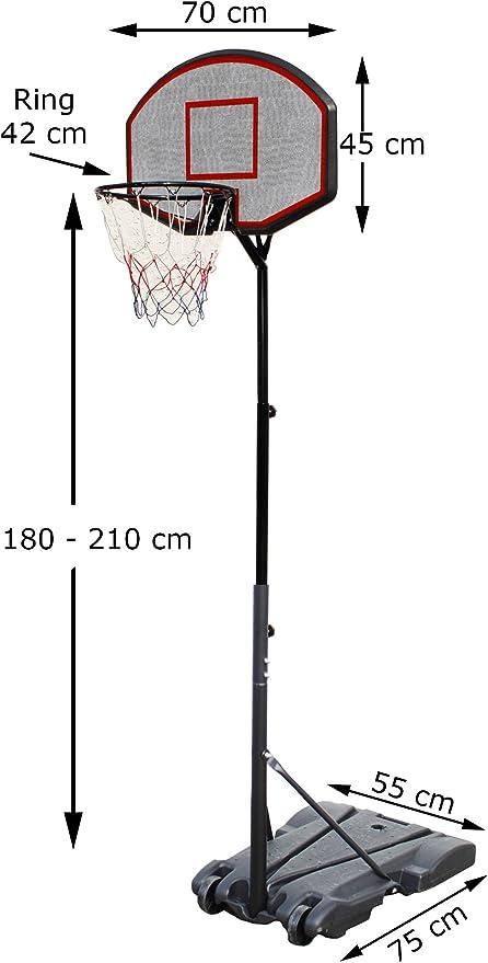 Canasta de baloncesto con soporte Baloncesto Soporte 1,8 – 2,1 m ...
