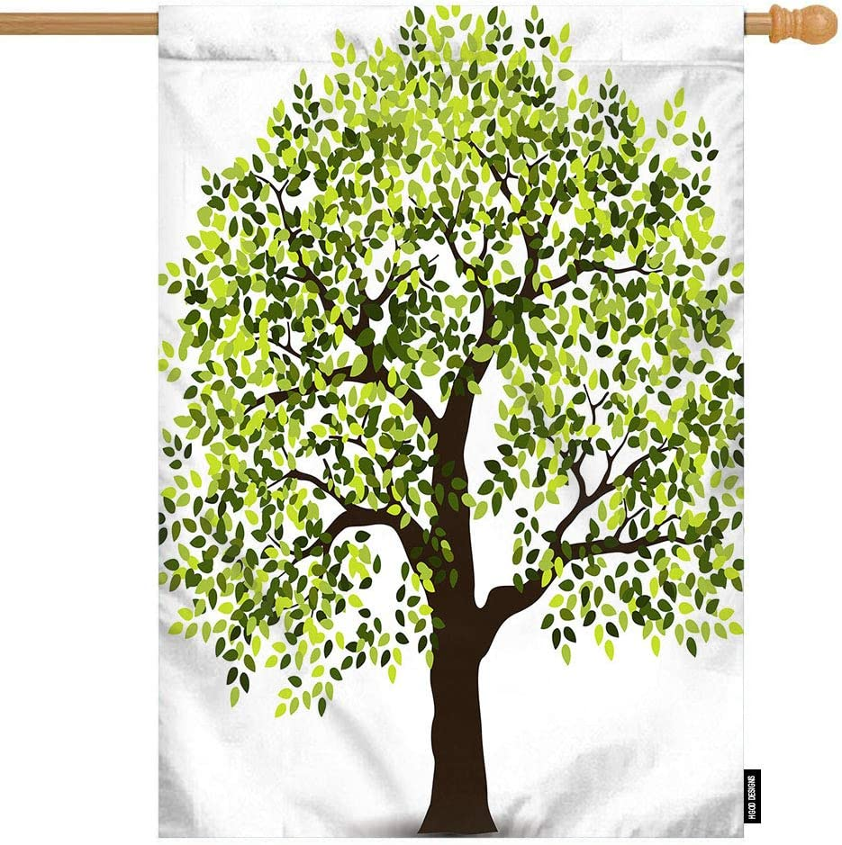 Amazon Com Hgod Designs Tree House Flag Cartoon Green Tree Of Life Welcome Decorative House Flags Cotton Linen Waterproof For Garden Banner 28 X40 Garden Outdoor Polish your personal project or design with these tree of life transparent png images, make it even more personalized and more attractive. amazon com
