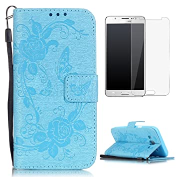CaseHome Compatible For Samsung Galaxy J5 2015/J500FN Wallet Funda,Carcasa PU Leather Cuero Cierre Magnético Billetera con Tapa Libro Tarjetas para ...