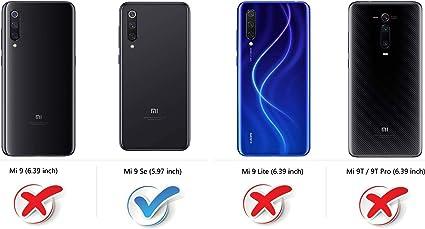 COODIO Funda Xiaomi Mi 9 Se con Tapa, Funda Movil Xiaomi Mi 9 Se ...