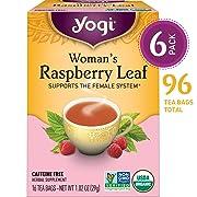 Yogi Tea - Woman's Raspberry Leaf - Supports the Female System - 6 Pack, 96 Tea Bags Total