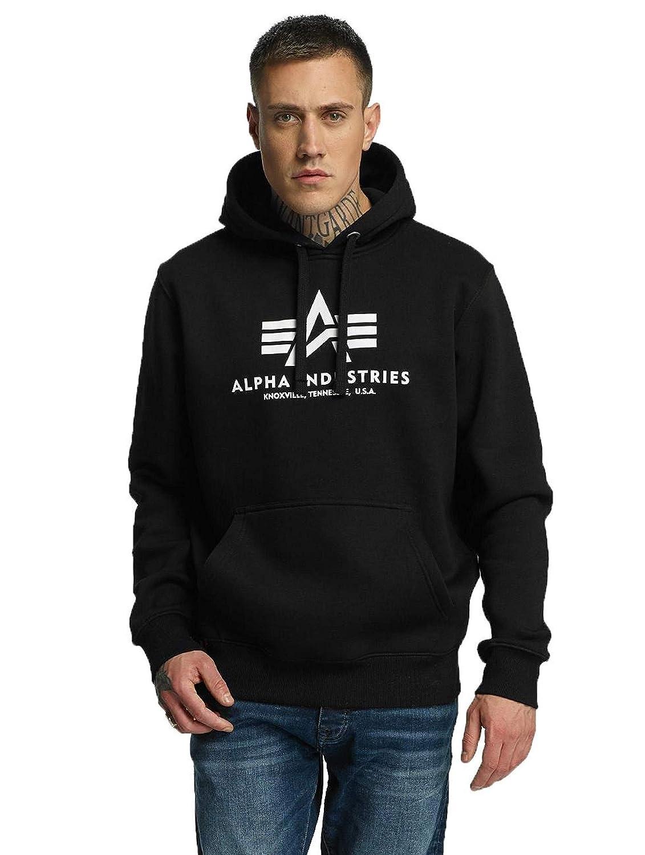 Alpha Industries Herren Hoody Basic schwarz 3XL