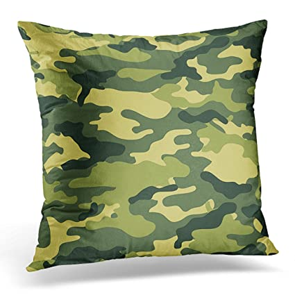 Amazon VANMI Throw Pillow Cover Colorful Camouflage Camouflaged Impressive Dark Green Decorative Pillows