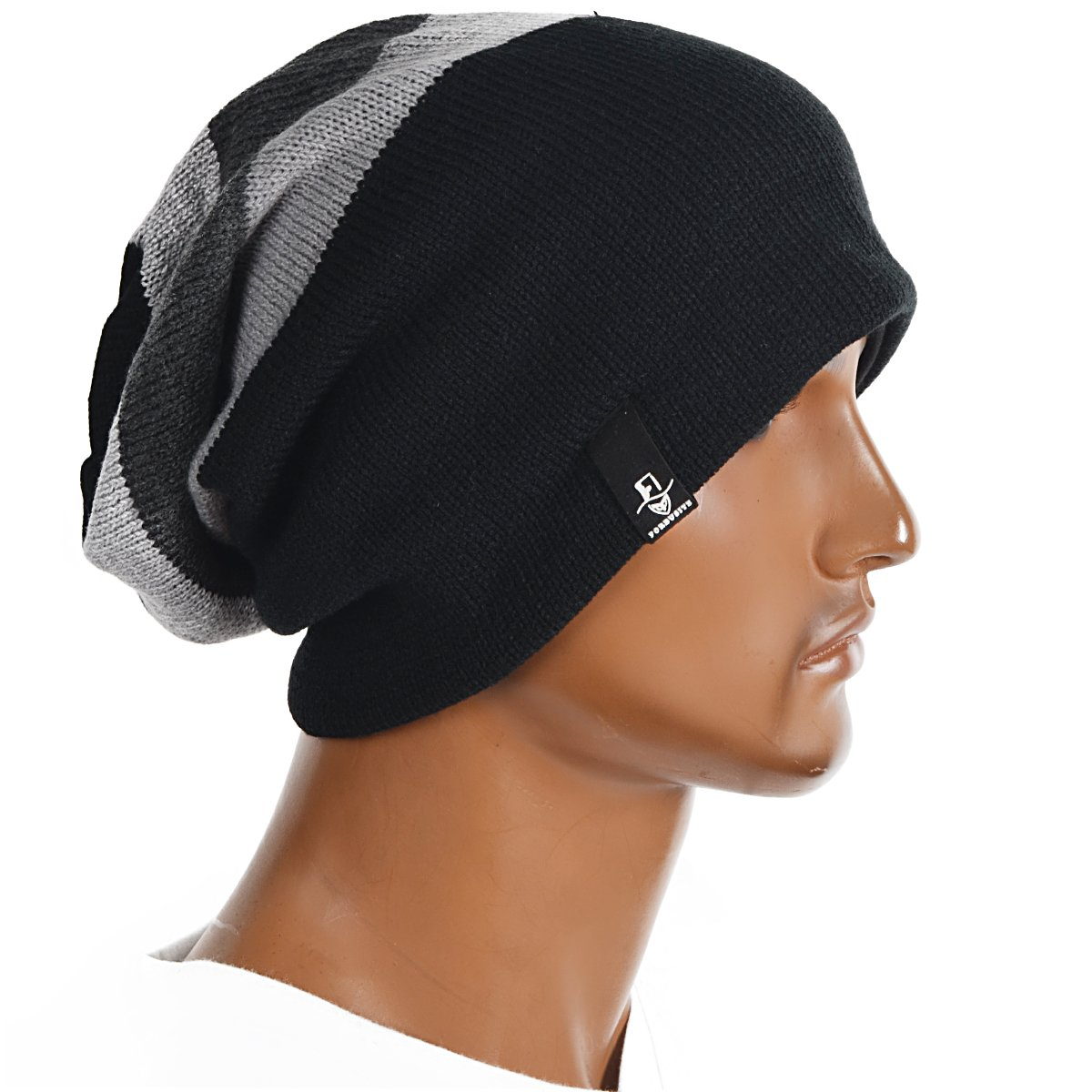 f4d8720a208 FORBUSITE Beany Winter Summer Men s and Women s Slouch Beanie Hat B08 -  Multicolour - 55 58 cm  Amazon.co.uk  Clothing