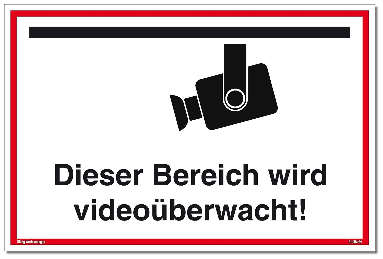 Cartel Videovigilancia Este Rango se Vídeo Mediante wacht ...
