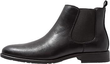 62b52e491bbbb9 Pier One Chelsea Stiefeletten für Herren - Schicke Ankle Boots aus Leder -  Elegante Business Schuhe