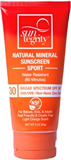 product image for Suntegrity Sport Natural Mineral Sunscreen Broad Spectrum SPF 30 (Short-Expiration 3/31/2021; Use for Ski Season)