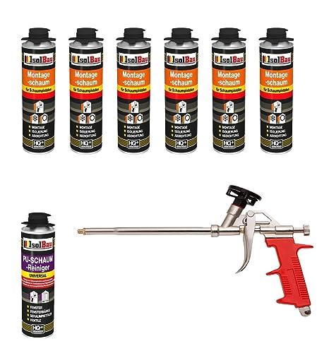 Set pistola de espuma 6 lata 500 ml Espuma de montaje 1 K ...