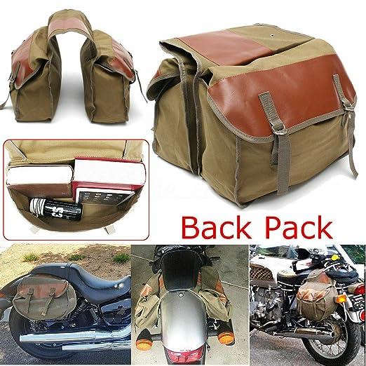 Ariymap Motorrad Leder Satteltaschen Tankrucksack Tail Bags Reitsack wasserdichte Gro/ße Kapazit/ät Schwarz Motorrad Box Schwarz