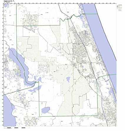 Amazon Com Flagler County Florida Fl Zip Code Map Not Laminated