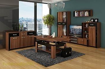 Wohnzimmer Möbel Set, TV Wohnwand U0026quot;HUGO Iu0026quot; TV Bench, Vitrinen,