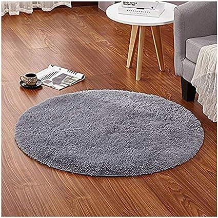 LOCHAS Round Area Rugs Super Soft Living Room Bedroom Home Shaggy Carpet 4Feet