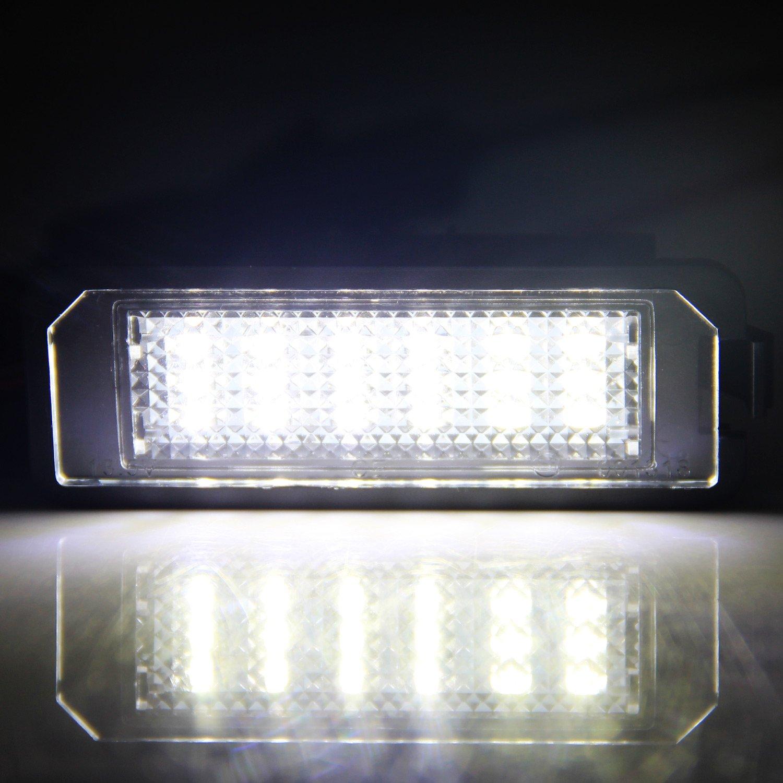 Win Power libre de errores 18 SMD LED licencia número placa luz Asamblea Blanca fría lámparas bombilla,2 piezas: Amazon.es: Coche y moto