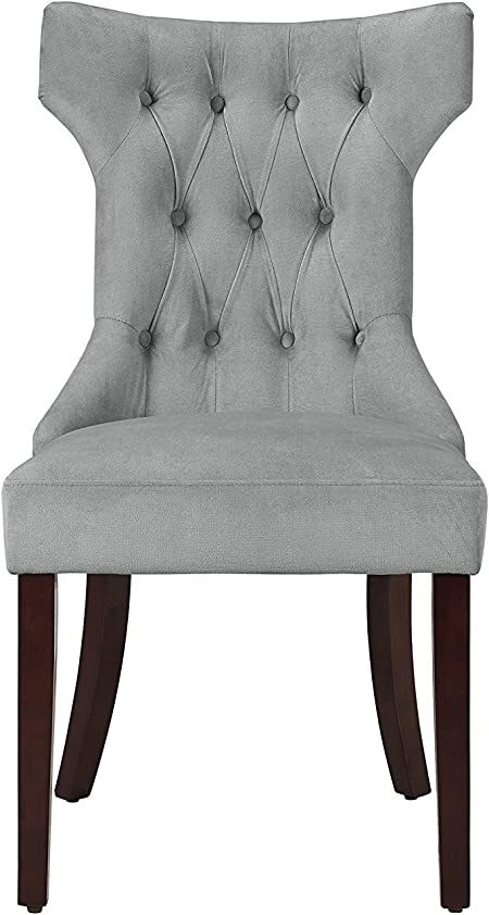 Dorel Asia Clairborne Tufted Dining Chair Taupe Amazon Co Uk Kitchen Home