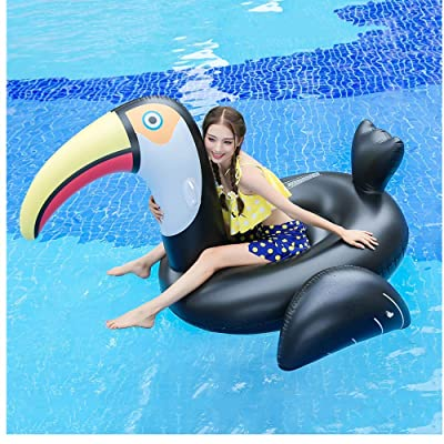 Hilyo US Fast Shipment Woodpecker Bird Pool Float Ride On Party Toys Swim Ring Inflatable Pool Float for Women Girls, Inflatable Water Toys for Kids & Adults - Enjoy This Summer in Pool (Multicolor): Sports & Outdoors