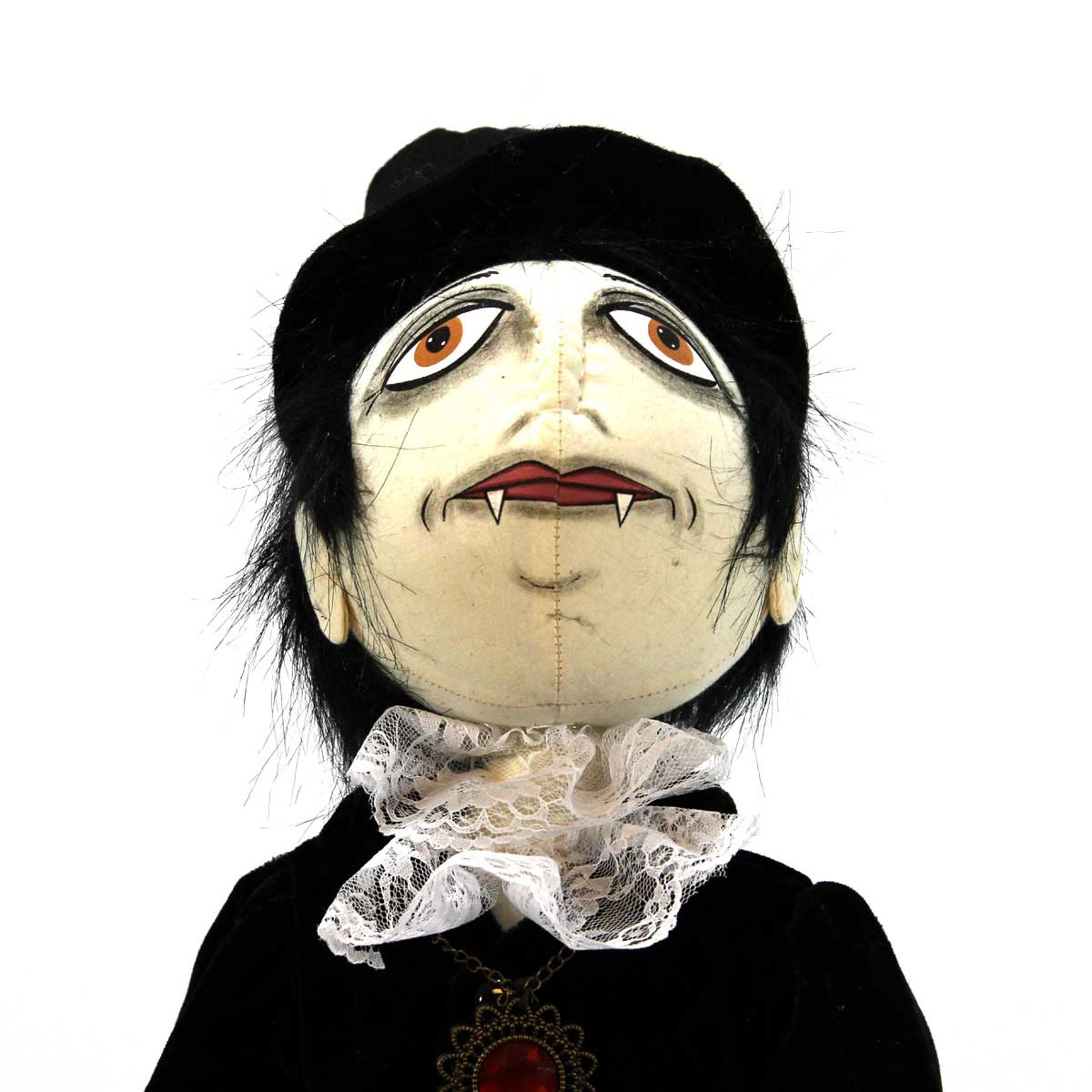 ''Archie'' Victorian Vampire Boy Halloween Soft Sculpture Figure Doll