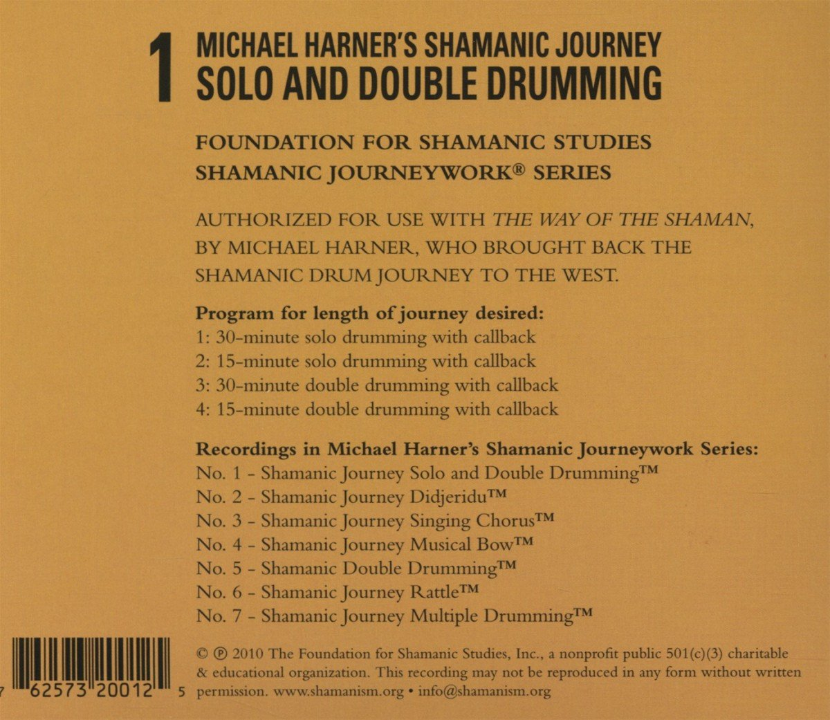 Shamanic journey solo and double drumming michael harner amazon es m sica