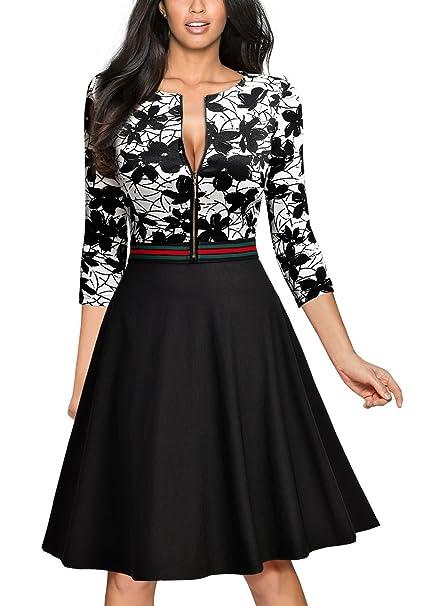 26c9da90427e MIUSOL Vintage Pizzo A-Line Cocktail Vestito Donna Corta Bianco XX-Large   Amazon.it  Abbigliamento