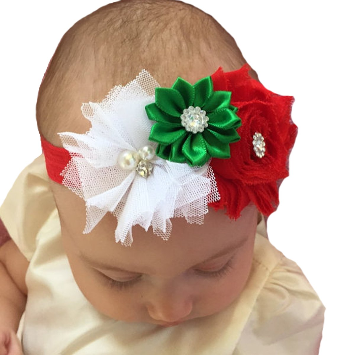 Amazon.com  Miugle Baby Girl s Christmas Headbands for Newborn ... 237b5db1417