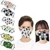 Karidge Adjustable 6 Pack Cotton Face Reusable for Kids Teens Children Boys Girls Outdoors Indoors (Animals)
