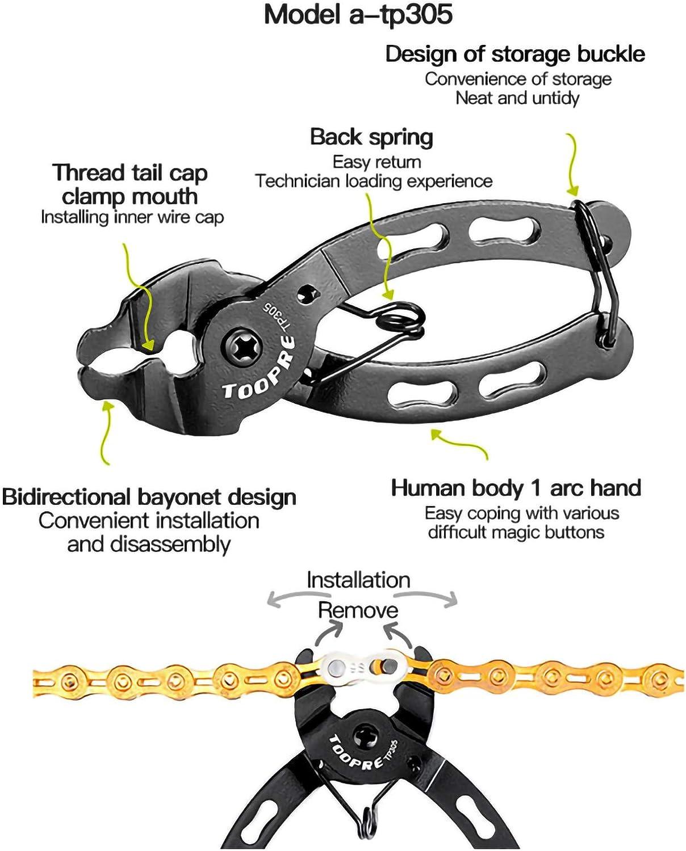 KEWAYO Bicycle Chain Repair Tool Kit with Bike Link Plier+Chain Breaker Splitter Tool Bicycle Remove and Install Chain Breaker Spliter Chain Tool