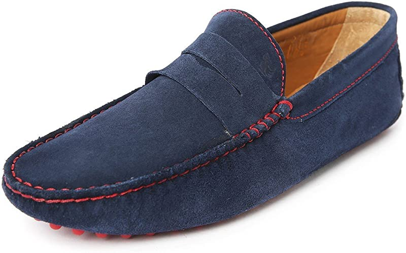 Homme loisirs Mode Chaussures Chaussures BLEU MARINE SUEDE