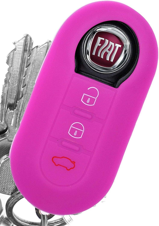 Soft Case Auto Schlüssel Silikon Schutz Hülle Pink Kompatibel Mit Fiat Ducato 500 Punto Peugeot Boxer