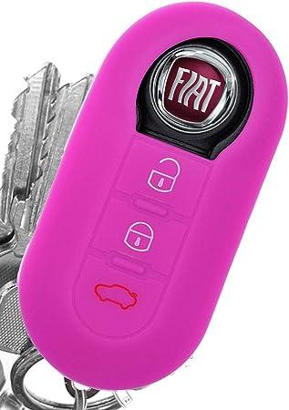 Soft Case Auto Schlüssel Silikon Schutz Hülle Pink Elektronik