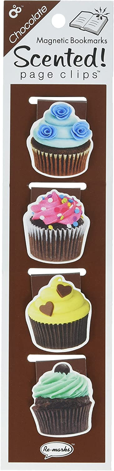Re-marks Scented Magnetic Page Clip Bookmarks, Pack of 4 (43357193)