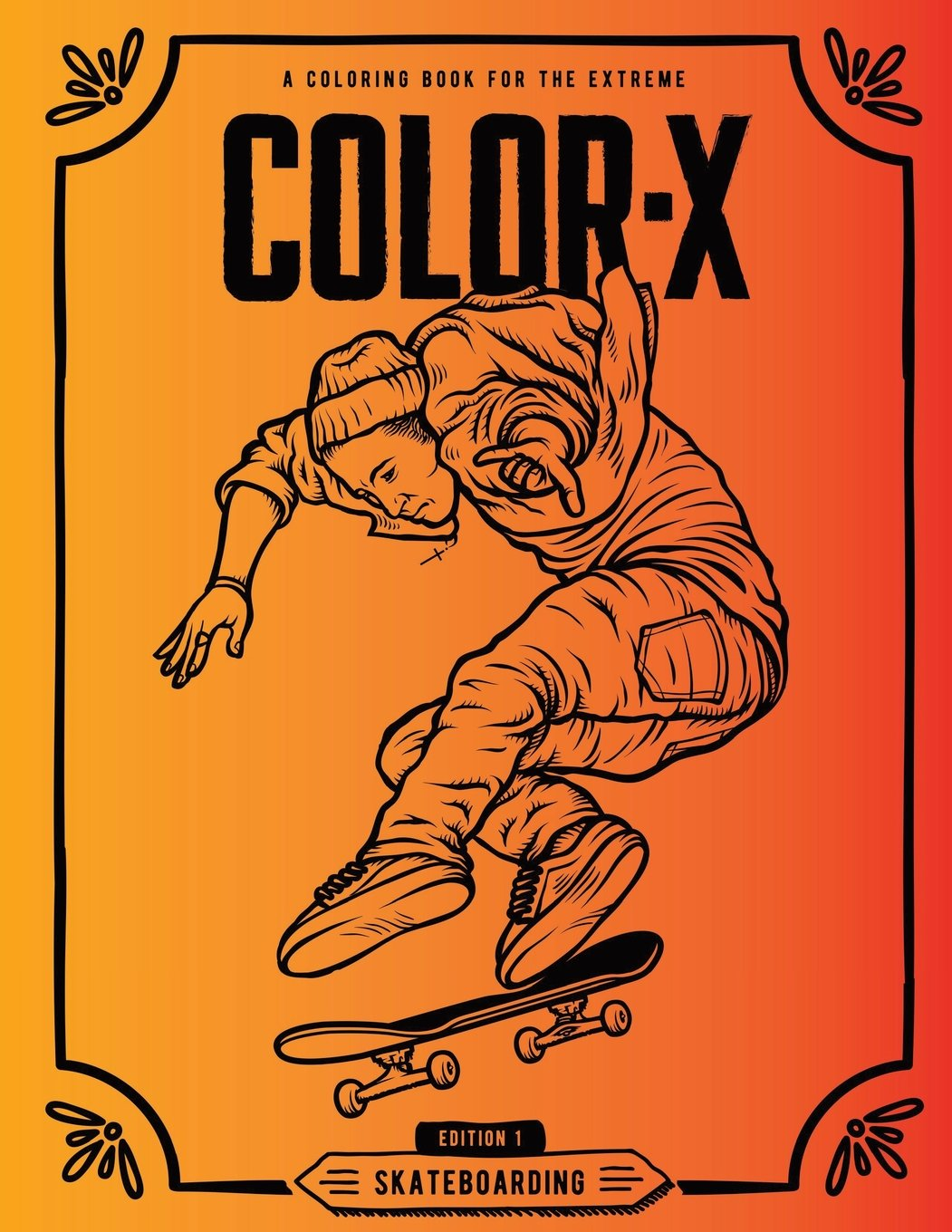 Coloring Page Outline Of Cartoon Boy On The Skateboard. Coloring ... | 1360x1051