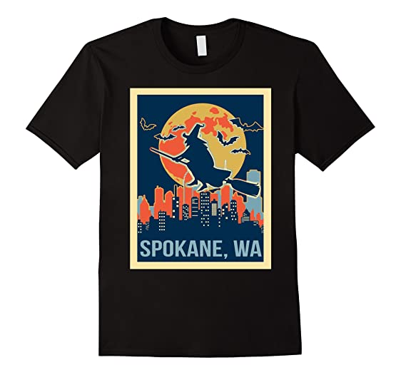 mens spokane washington halloween shirt 2xl black