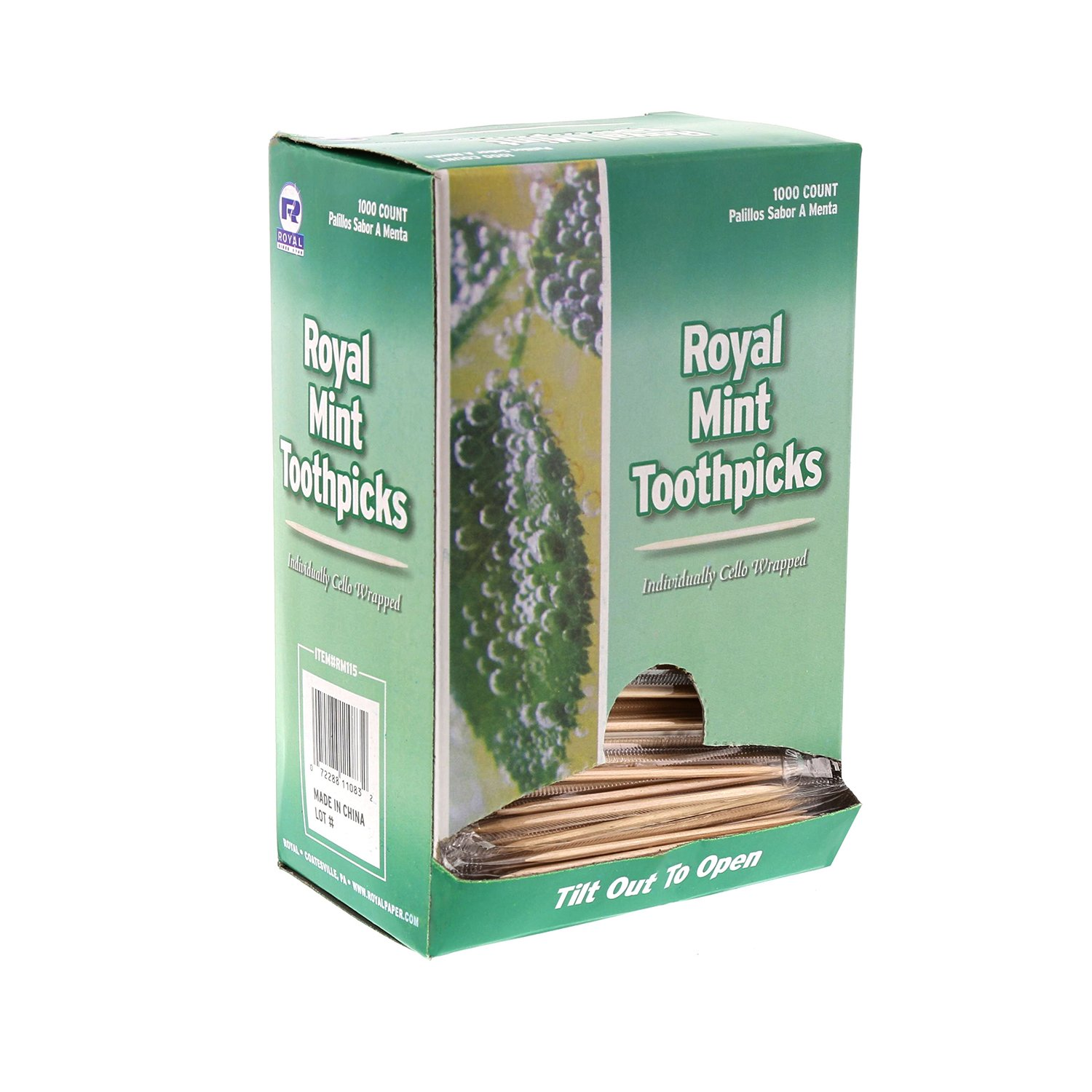 Royal RM115 Mint Individual Cello Wrapped Toothpicks, Package of 1000, 1-Pack Beige by Royal (Image #4)
