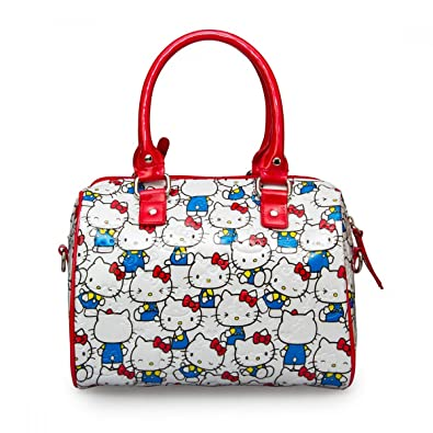 68e88b520bdd Loungefly Bag SANTB1198 Hello Kitty Vintage Print Patent Embossed Mini City  Cros  Amazon.co.uk  Shoes   Bags