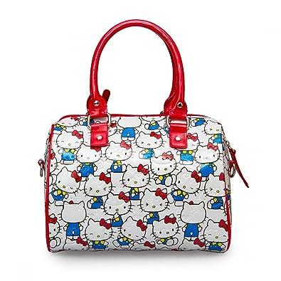 3931c0587c Loungefly Bag SANTB1198 Hello Kitty Vintage Print Patent Embossed Mini City  Cros  Amazon.co.uk  Shoes   Bags