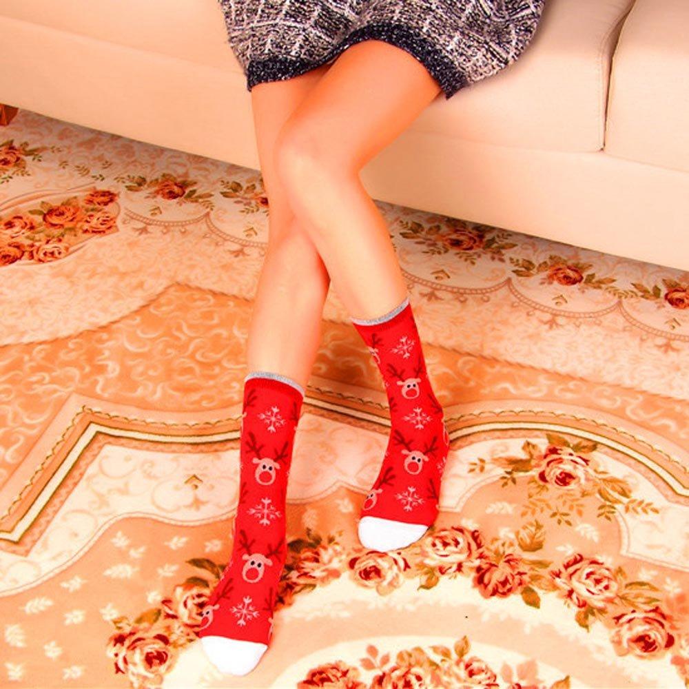 Women And Men Cute Christmas Short Socks Comfortable Stripe Cotton Ankle Sock Hanican