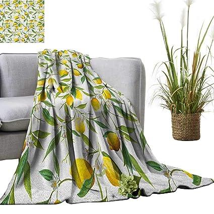 Amazon.com: Superlucky Nature Throw Blanket Flowering Lemon ...
