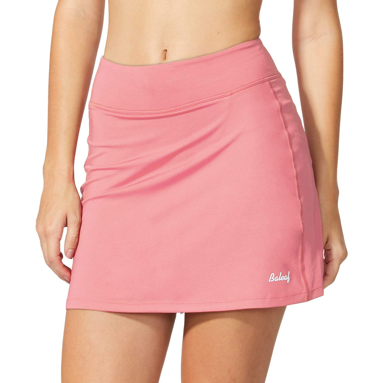 Baleaf Women's Active Athletic Skort Lightweight Skirt with Pockets for Running Tennis Golf Workout Light Pink Size S by Baleaf