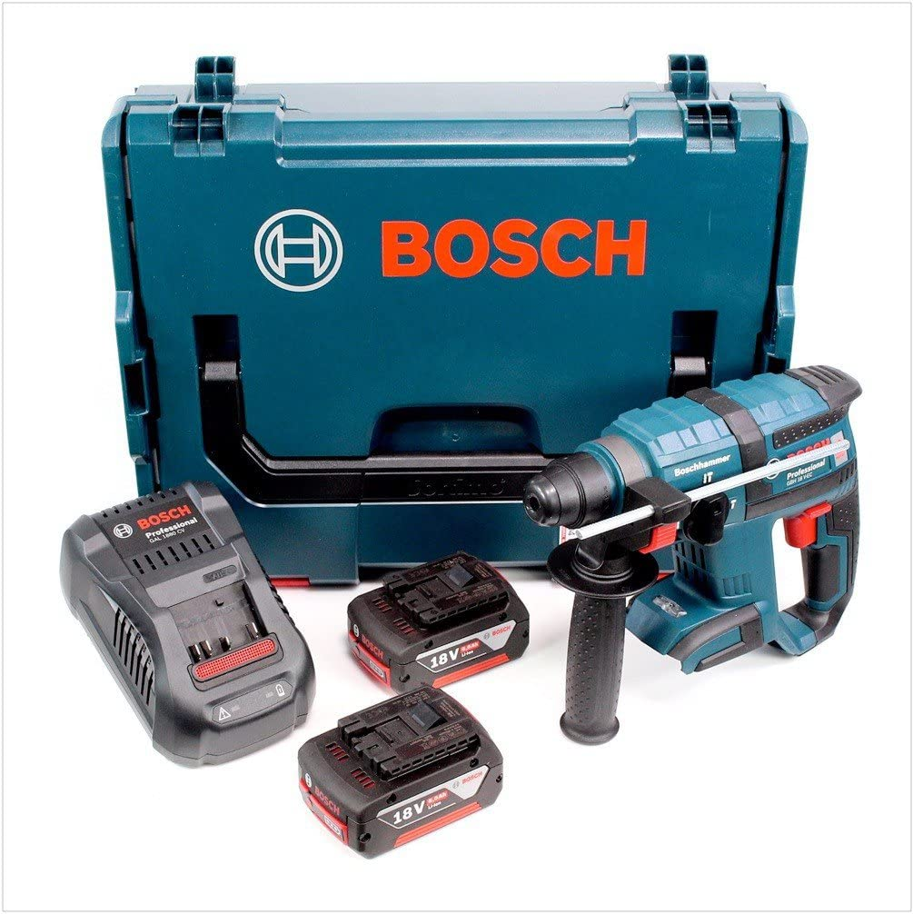 GAL 1880 CV Bosch Akku-Bohrhammer GBH 18 V-EC SDS-Plus 2 Akkus 5 Ah L-Boxx