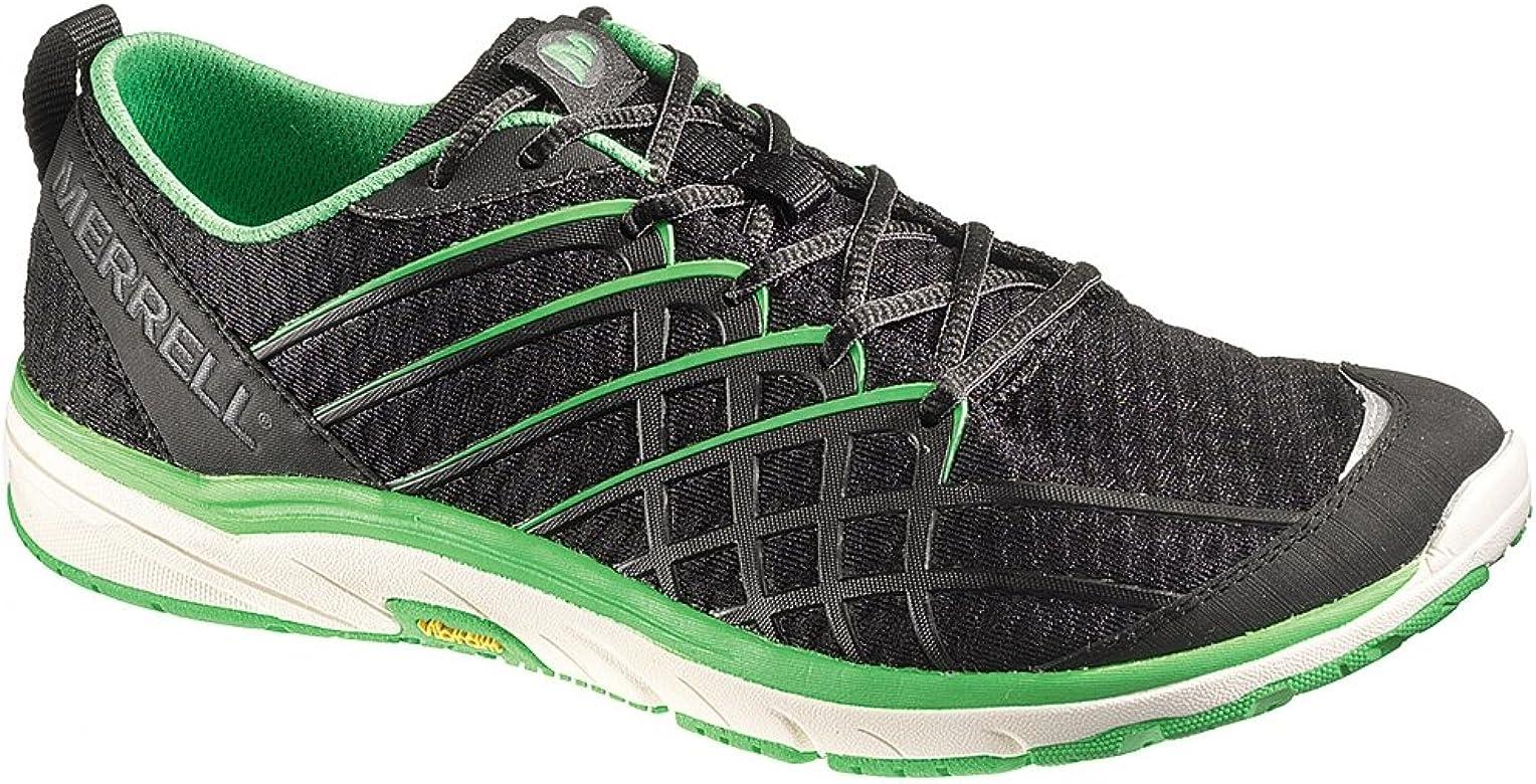 Merrell BARE ACCESS 2 Zapatillas de correr para hombre, Verde (Negro / Verde), 46.5 EU: Amazon.es: Zapatos y complementos