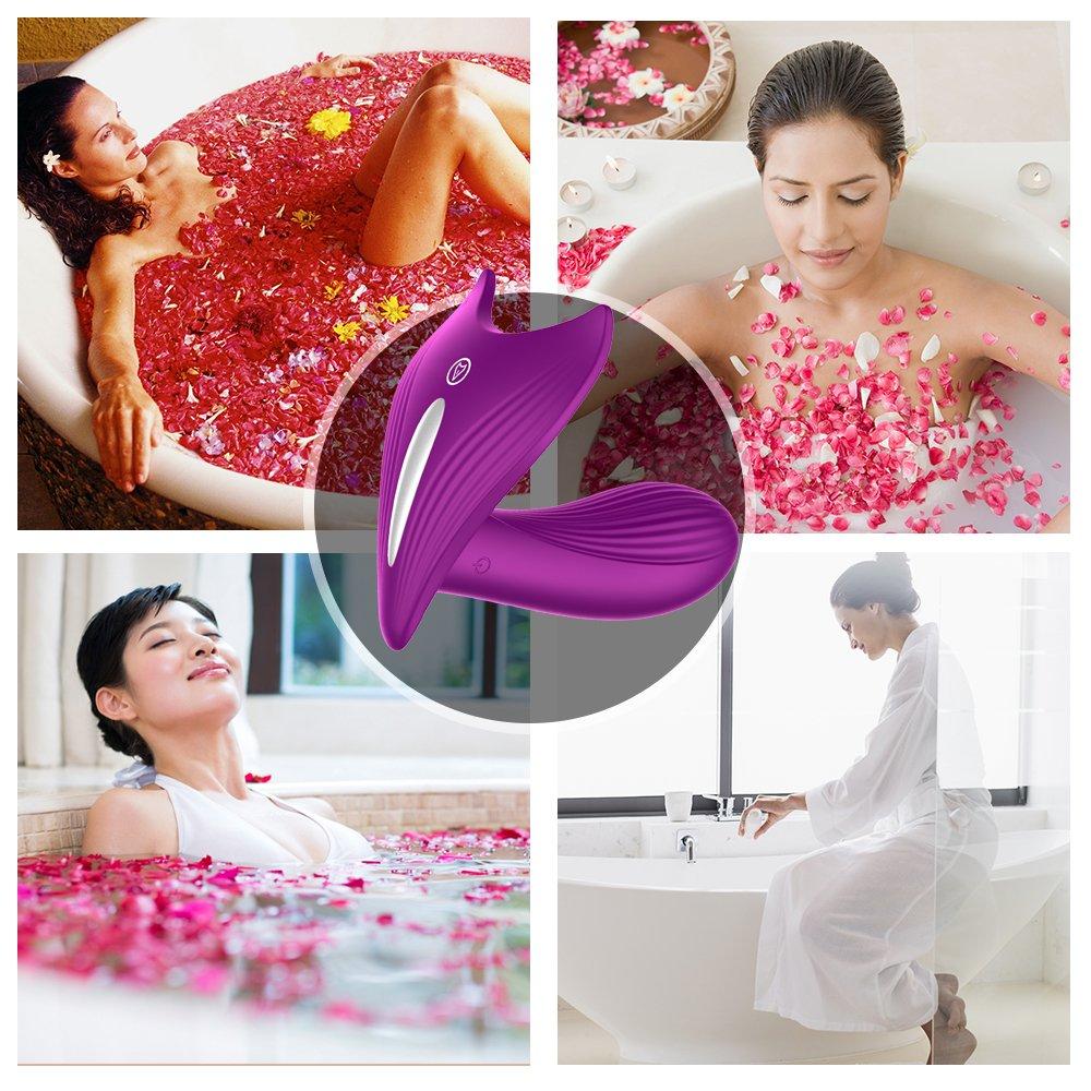 Klitoris Massagegerät*Dildo Vibrator Vibratoren für sie Klitoris und G-punkt Frauen mit Kabellos Fernbedienung 100% wasserdichte* vibrierendes Wasserdicht (lila)