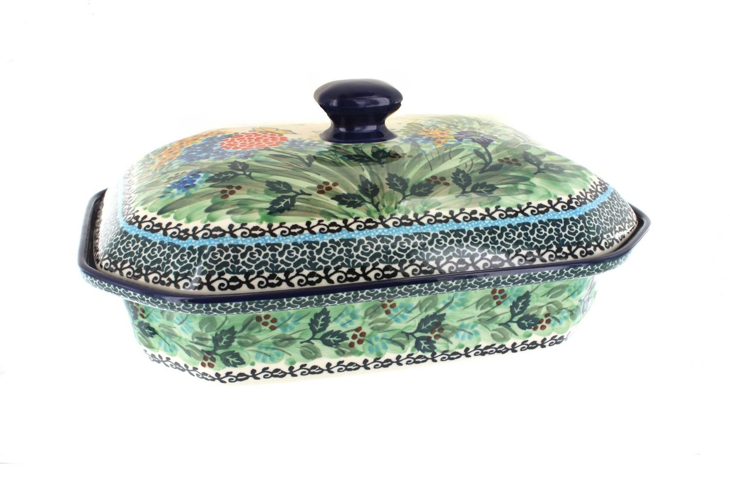Polish Pottery Teresa Large Covered Baking Dish