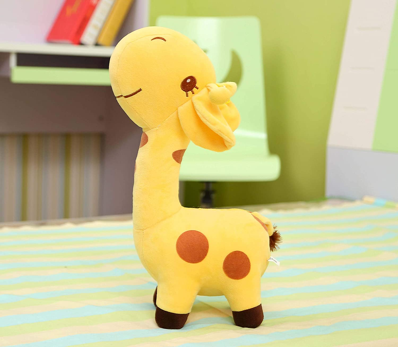 Jaune 1 mètre ZYYJG OrneHommests Créatif Dessin Animé Girafe en Peluche Jouet Poupée Ragdoll Oreiller Vert Foncé 50cm