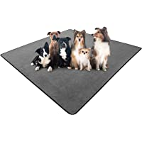 """rabbitgoo Dog Pee Pad 72"""" x 72"""", Reusable Pet Crate Pad, Large Waterproof Puppy Potty Training Pad Washable Play Mat for…"""